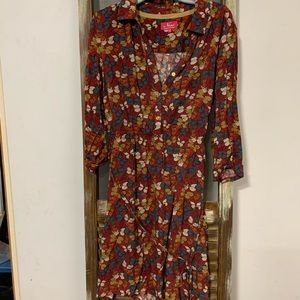 Ness shirt dress with butterfly pattern